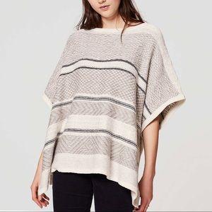 LOFT Wool Blend Jaquard Poncho